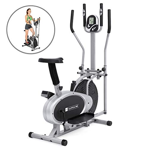 Elliptical Bike 2 IN 1 Cross Trainer Exercise Fitness Machine Upgraded Model ()