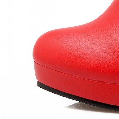 Heart&M Damen Schuhe Kunstleder Herbst Winter Komfort Neuheit Modische Stiefel Stiefel Blockabsatz Runde Zehe Mittelhohe Stiefel Tupfen Für Normal black