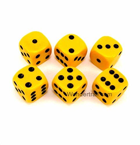 お気に入りの WKP10887E6 Yellow Opaque Dice with Black Pips Pips D6 D6 B00VWX7XVI 16mm (5/8in) Rounded Corners Pack of 6 Dice Koplow Games B00VWX7XVI, シナノテント(名入れ無料!通販):f2d3d421 --- egreensolutions.ca