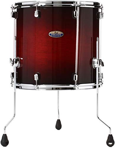 Pearl Decade Maple Floor Tom - 16'' x 18'' Redburst