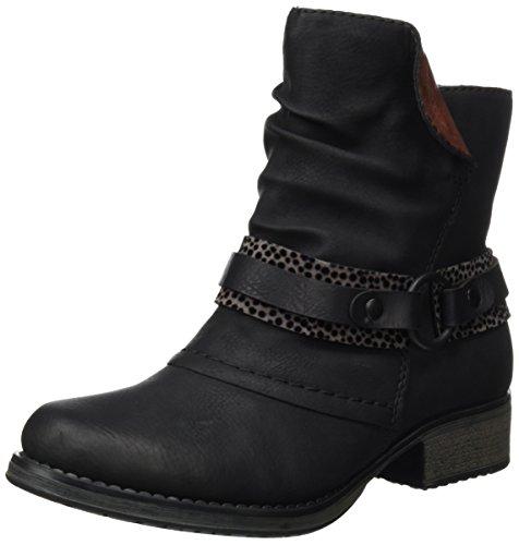 Rieker Y9792, Botines para Mujer Negro (schwarz/grau/schwarz/vinaccia / 00)