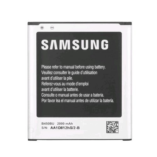 Samsung OEM Original Standard battery B450BU for Samsung Galaxy S3 S III Mini AT&T SM-G730A Verizon SM-G730V - Non-Retail Packaging - Black (Mini S3 Cases)