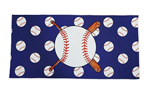 SOFTBATFY Baseball Microfiber Beach Towel - Quick Dry Super Absorbent Lightweight Towel for Swimmers, Sand Free Towel, Beach Towels for Kids & Adults, Pool, Swim, Water Sports(Baseball 3060inches)