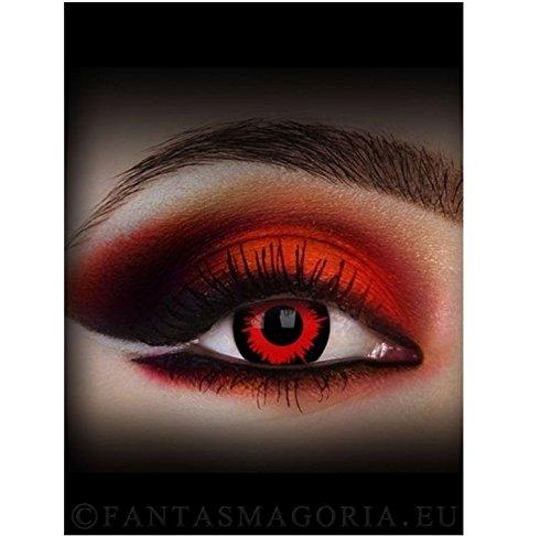 Targarian Lenti a contatto colorate Mini Sclera Vampiro con portalenti.  Rosse 2a7cb3ac66d9