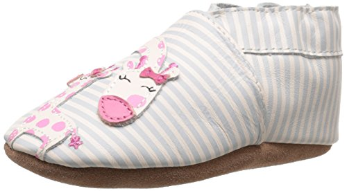 Robeez Reach For The Stars Soft Sole Crib Shoe (Infant), Cream, 6-12 Months M US Soft Sole Crib Shoes