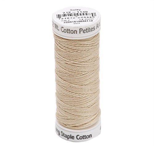 Sulky Of America 12wt 2-Ply Cotton Thread, 50 yd, Deep Ecru by Sulky Of America   B016B3S4NO