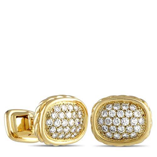 O.J.Perrin (Est.) O.J.Perrin 18K Yellow Gold Diamond Cufflinks
