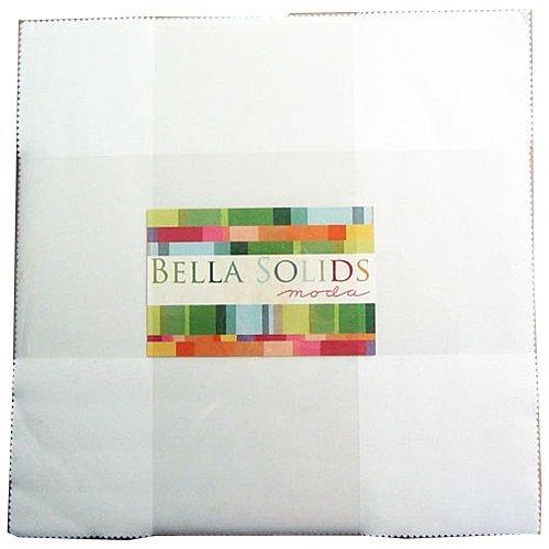 Bella Solids White Layer Cake 42 10-inch Squares Moda Fabrics 9900LC 98 ()