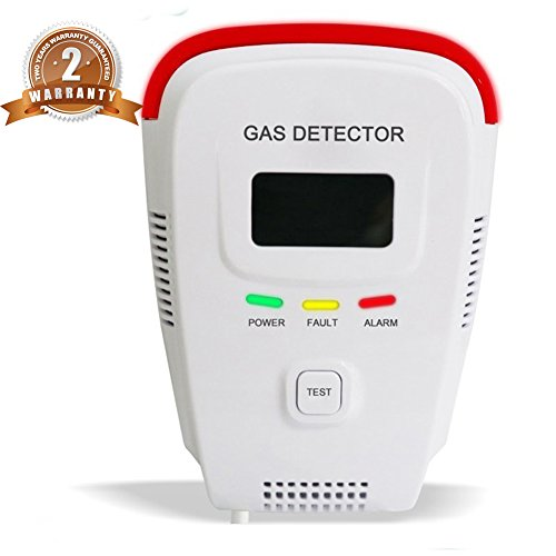 Propane / Methane /Combustible Natural Gas Alarm Detector for Home Prevent Fire Explosions with Sound Warning and Digital Display