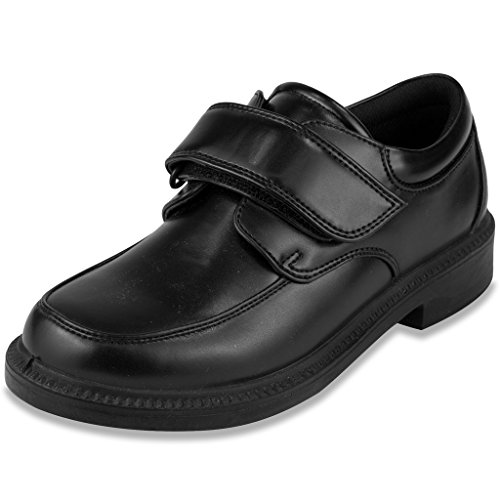 French Toast Boys Eric Uniform Dress Shoe Black (Black Dress Uniform Shoes)