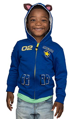 Paw Patrol Children I am Chase Zip up Blue Hoodie (Size 5/6T)
