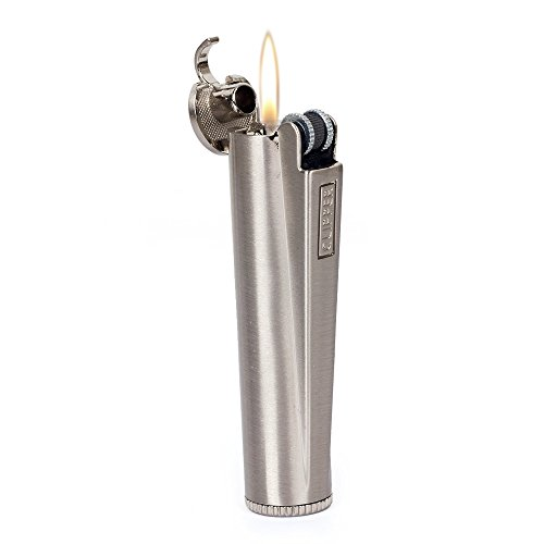 Clipper Flint Wheel Oil Petrol Gasoline Cigarette Metal Lighter Silver