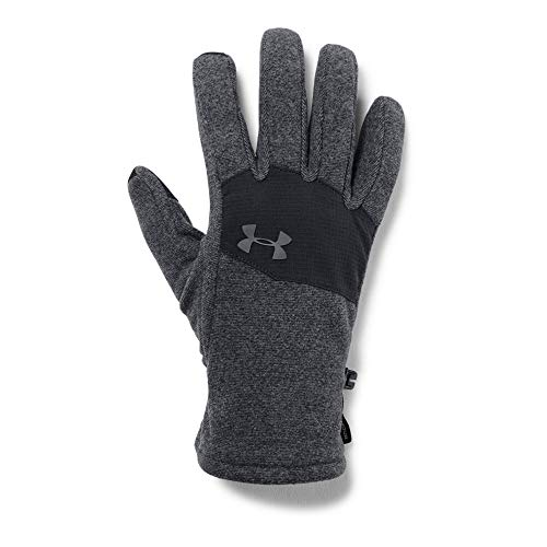 Under Armour Men's ColdGear Infrared Fleece 2.0 Gloves, Black (003)/Graphite, Medium