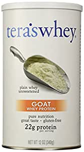 tera's: Gluten-Free Certified Goat Whey Protein, Unsweetened, 12 oz