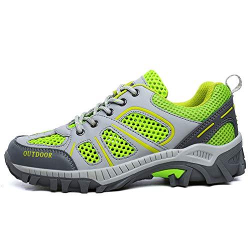 Verano Fluorescente Zapatillas Adultos Malla Unisex Zapatos Primavera para Transpirable Casuales Parejas Verde qHUPtx6w