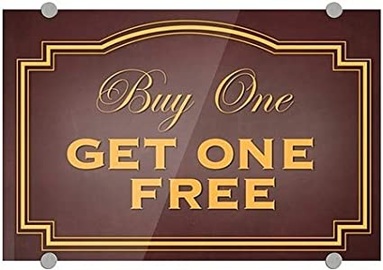 Classic Brown Premium Brushed Aluminum Sign 36x24 Buy One Get One Free CGSignLab