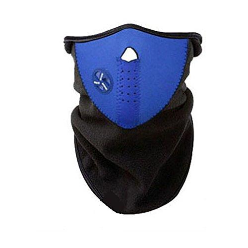 - Keentix Unisex Thermal Fleece Face Mask Balaclavas Snowboard Ski Winter Cycling Scarf (Blue)