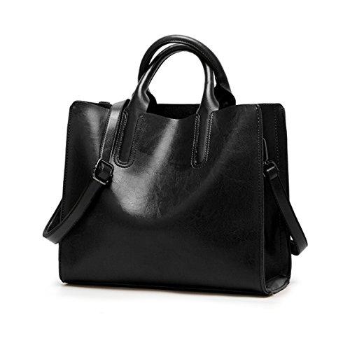 capacité à sacs Noir tout bandoulière dames fourre pour grande en cuir vin centrale de rouge femmes Flada d'unité Oz7qTHx