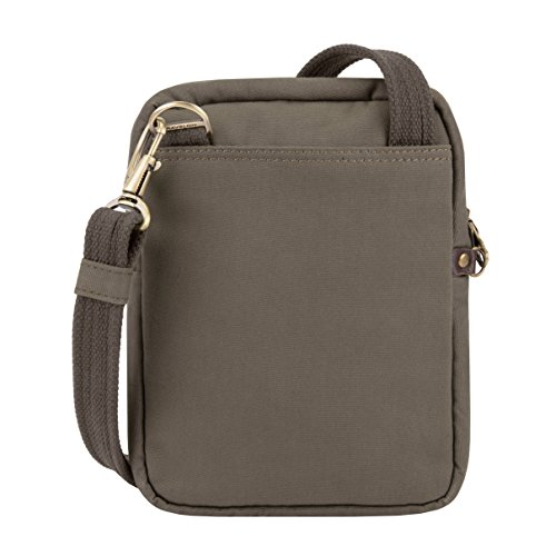 41sYEZ5B97L - Travelon: Anti-Theft Courier Small N/s Slim Travel Bag - Stone Gray