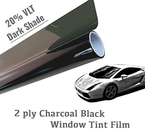 The Online Liquidator 40'' x50' feet Black Window Tint Film Roll - Dark Shade 20% VLT for Car and Residential Privacy Glass Easy DIY by The Online Liquidator (Image #3)