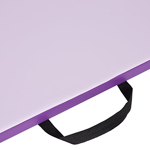 Cloud Mountain Gymnastics Mat 4'x8'x2 Gym Mat Folding Thick Panel Gym Mat Tumbling Mat Fitness Exercise Handle Compatibility Hook & Loop Tape Martial Arts Yoga Aerobics Cheerlanding (Pink & Purple) by Cloud Mountain (Image #8)