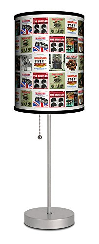 Lamp-In-A-Box SPS-BEA-WALBU The Beatles-Beatles Album Covers Silver Sport Lamp,
