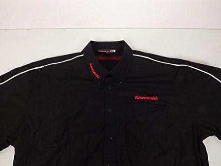Kawasaki Camisa con Manga Corta (Moto Deporte Talla XL, Colores Negro/Rojo Neuf: Amazon.es: Deportes y aire libre