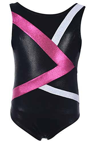 Dancina Girls Gymnastics Tank Top Leotard Dancewear 10 Greater > Black