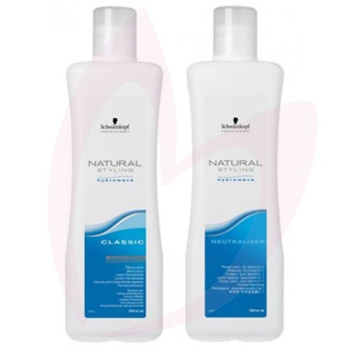 Schwarzkopf Natural Styling Hydrowave Classic Perm Lotion& Netraliser-2 Coloured Twinpack