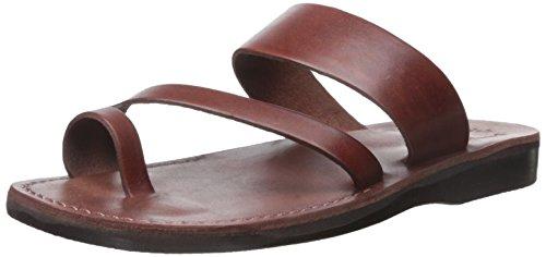Jerusalem Sandals Men's Zohar Slide Sandal Brown pQqaDt