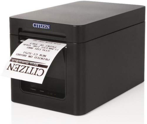 Citizen CT-S251, w/Serial Interface Black case, CTS251XNEBX-S (Black case, incl. Power Supply Unit, Power Cable, Receipt roll)