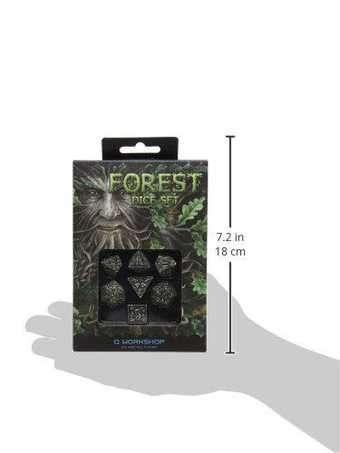 Qworkshop SFOR18 Forest 3D Dice Set 7-Piece Q-Workshop SFOR18QWP