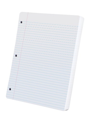 Oxford Evidence Filler Paper 11X8 1/2, White, College Ruled With Margin Line, 200 Sheets per Pack (26-052)