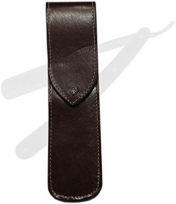 De afeitar con mango de cuchillo de estuche para guardar cuchillos - de cuero marrón - Dovo Solingen - 4671: Amazon.es: Hogar