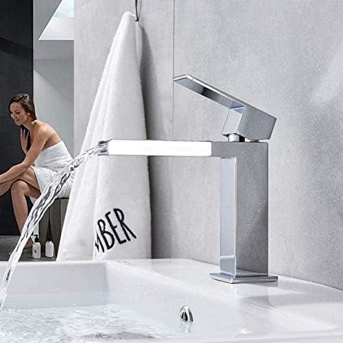 ZY-YY 蛇口キッチンタップ滝ロングスパウト流域の蛇口シングルハンドル真鍮クロームホット冷たい水をタップデッキの取付け浴室容器シンクタップ一つの穴