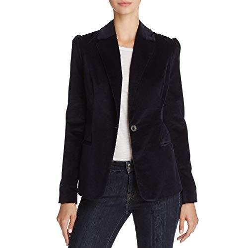 [BLANKNYC] Blank NYC Womens Office Wear Puff Sleeves Velvet Jacket Navy ()