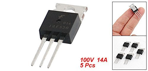 IRF530 100V 14A Canal N MOSFET de puissance TO-200AB 5 Pcs