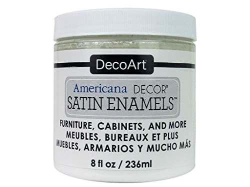 DecoArt Décor Americana Decor Satin Enamels 8oz PureWht from DecoArt