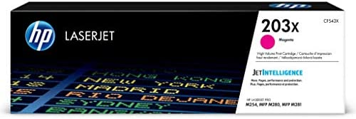 HP 203X (CF543X) Original Toner (mit hoher Reichweite für HP LaserJet Pro M254, HP LaserJet Pro M280, HP LaserJet Pro M281) rot