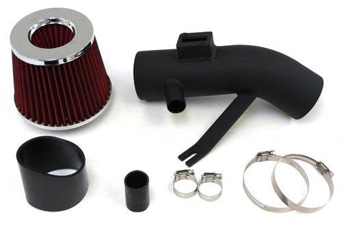 07-12 Nissan Altima V6 3.5L Black Short Ram Air Intake Kit + Red Filter / Black Hose 10 11