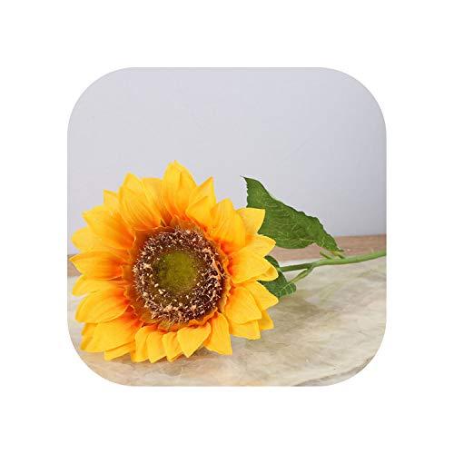 10Pcs/Set Artificial Sunflower Artificial Flower Silk Flower Fake Plant for Wedding Home Party Decoration,10Pcs Yellow]()