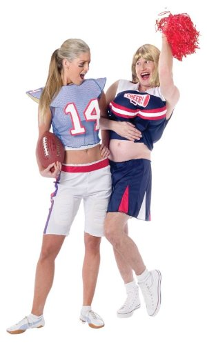 [Football Player Girl Adult Costume] (Football Player Halloween Costume Women)