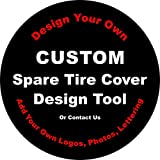 Tire Cover Central Custom, Logo, Photo, Personalized Photo, Personalized for Jeep RV Camper Trailer(Drop Down Size menu