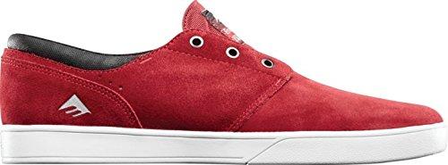 Emerica The Figueroa - Zapatillas de skateboarding para hombre Burgundy/White