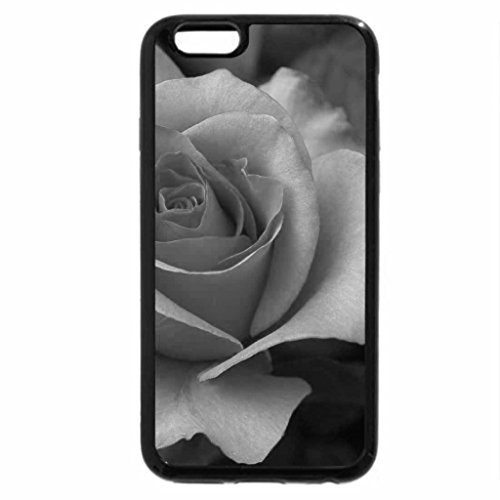 iPhone 6S Case, iPhone 6 Case (Black & White) - Rose