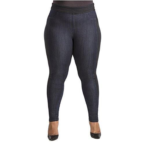 1cfa32d499e Poetic Justice Plus Size Women s Curvy Fit Side Zipper High Waist Skinny  Jeans Blue
