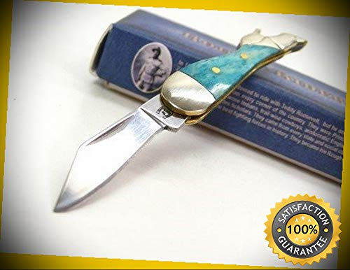Turquoise Bone Small Mini Lady Leg Folding Pocket Sharp Knife 1249 perfect for outdoor camping hunting