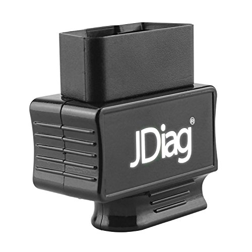 JDIAG Bluetooth OBD2 Scanner Code Reader Faslink M2 Professional Vehicle Diagnostic Tool Compatible iPhone, iPad & Android (Black)