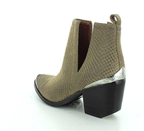 Campbell Booties Women's Khaki Jeffrey Snake Suede Cromwell Matte 4HpTTfqy