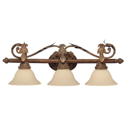 Capital Lighting Fixtures Italian Iron Three Light Bathroom Light With A TUSCAN Finish 1583TU-230